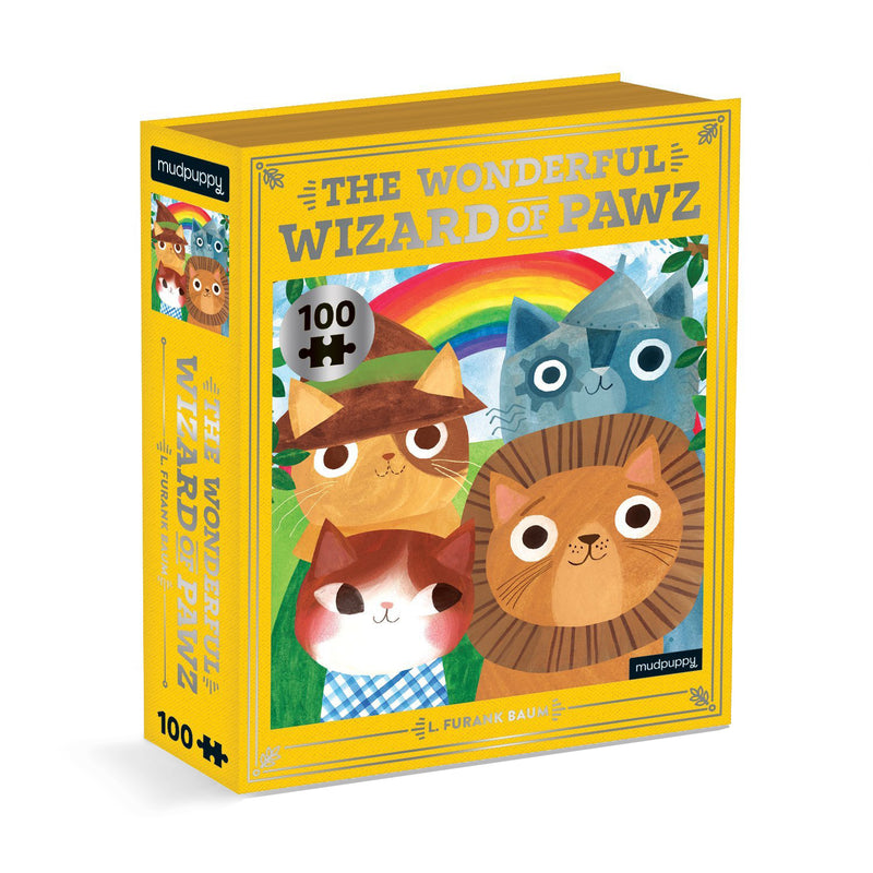 Bookish Cat: Wizard of Pawz 100 Piece Puzzle