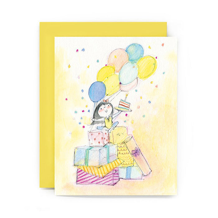 Confetti Birthday Girl Card