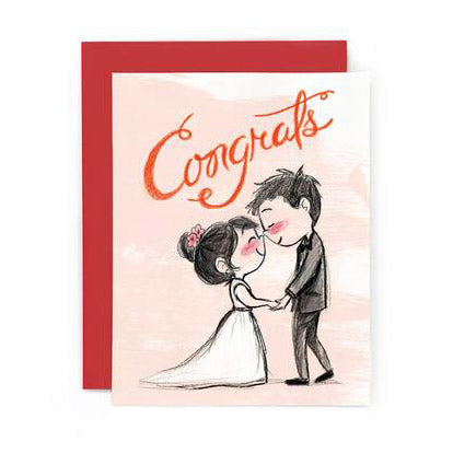 Eskimo Kiss Wedding Card by Genevieve Santos from Leanna Lin's Wonderland