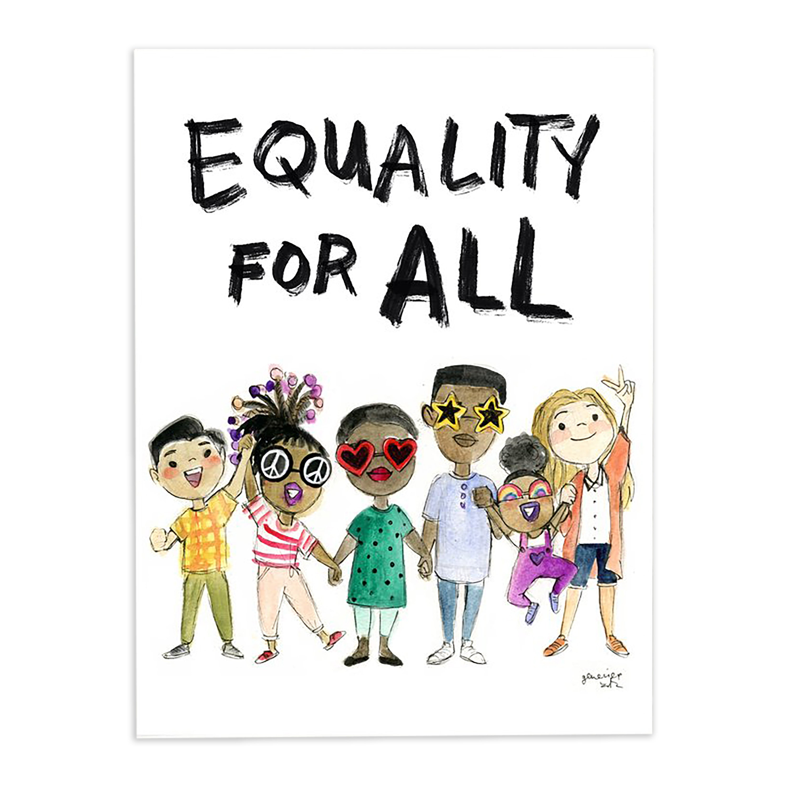 Genevieve Santos: Equality For All Print