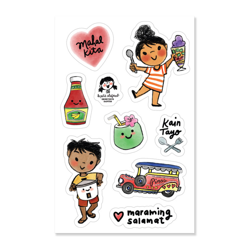 Filipino Sticker Sheet by Genevieve Santos from Leanna Lin's Wonderland