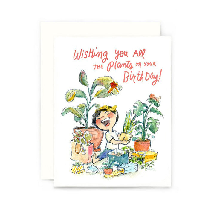All The Plants Birthday Card