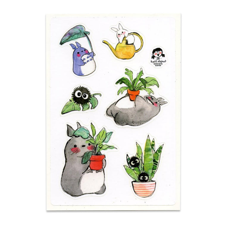 Totoro and Plants Sticker Sheet