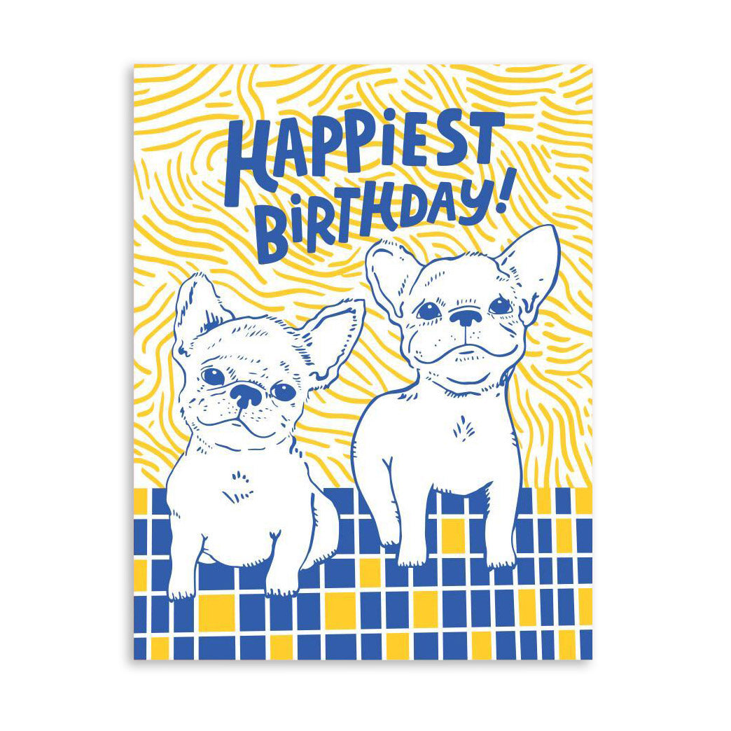 Frenchie Bday Card by The Good Twin from Leanna Lin's Wonderland