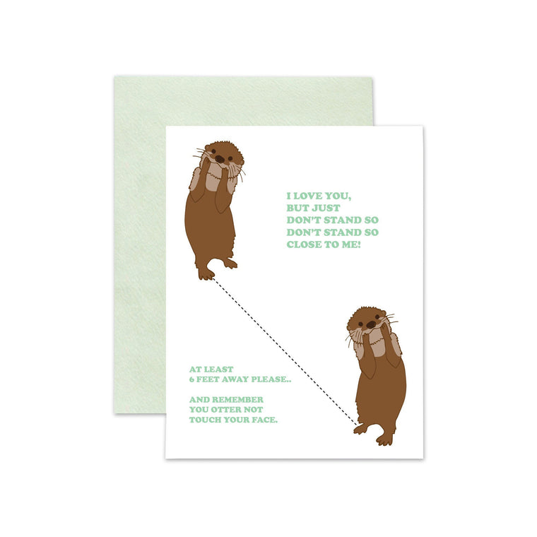 Otter Stand So Close Card