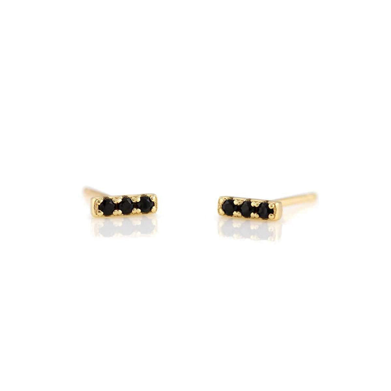 Jet Bar Dash Pave Earrings