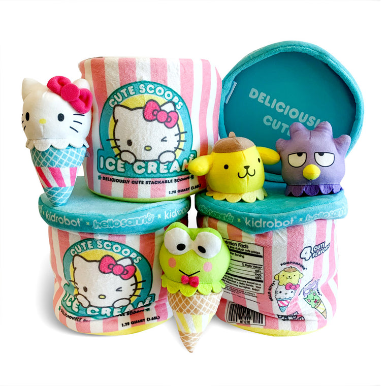Kidrobot x Hello Sanrio Plush Cute Scoops
