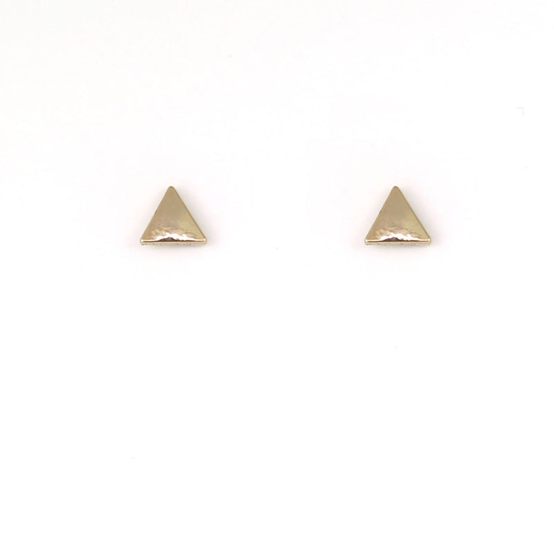 New Moon Gold Earrings: Triangles by Lucky Feather from Leanna Lin's Wonderland