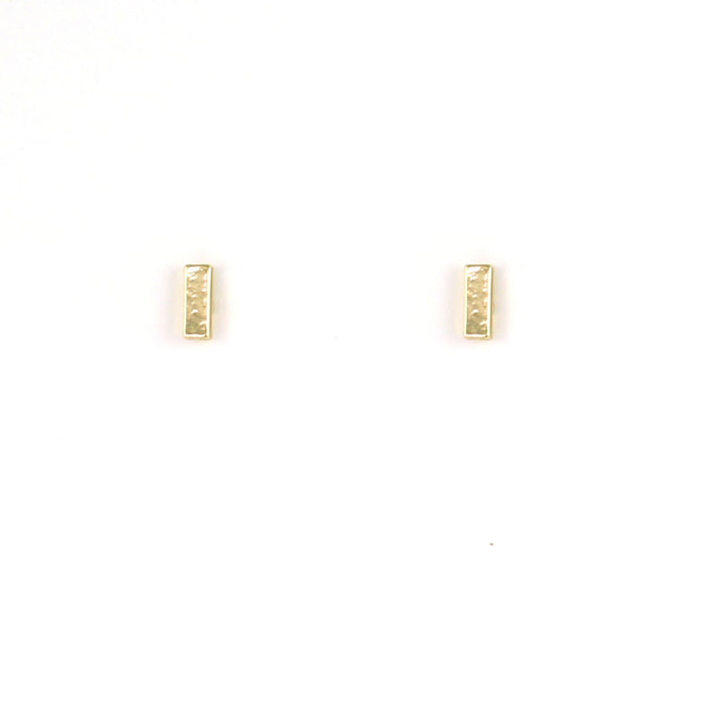 New Moon Gold Earrings: Bar by Lucky Feather from Leanna Lin's Wonderland