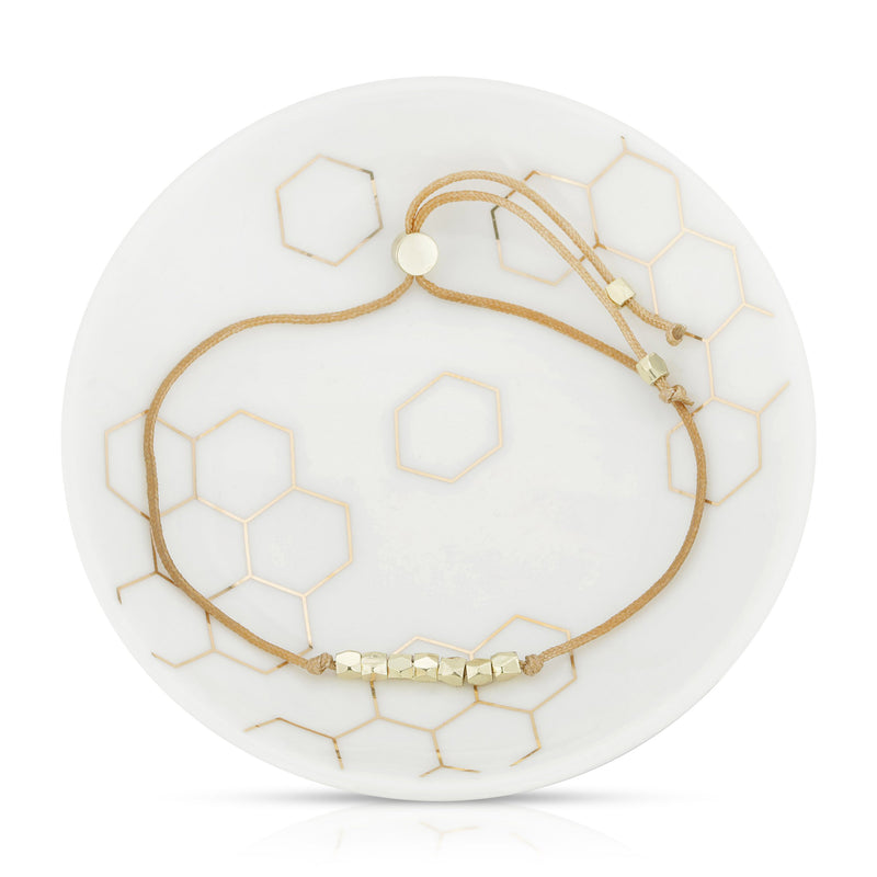 Bracelet + Dish Set: Honey by Lucky Feather from Leanna Lin's Wonderland