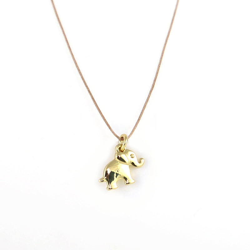 New Moon Gold Necklace: Lucky Elephant by Lucky Feather from Leanna Lin's Wonderland