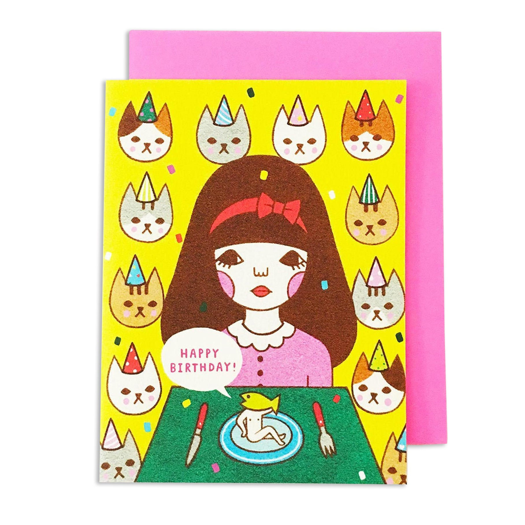 Happy Bday Cats Card