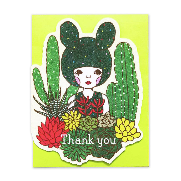 Thank You Cactus Die Cut Card