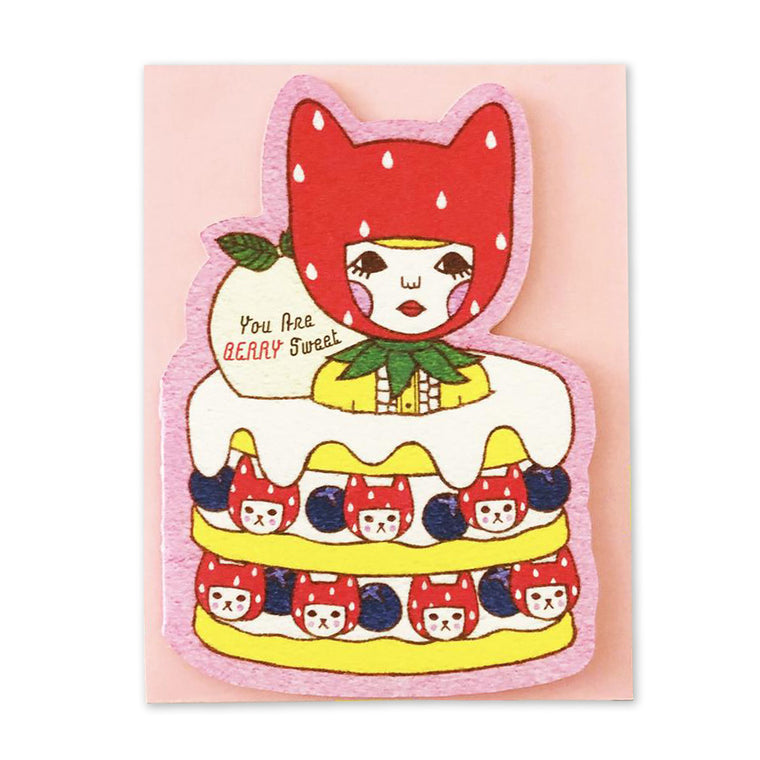 Pancake Cat Cake Die Cut Card