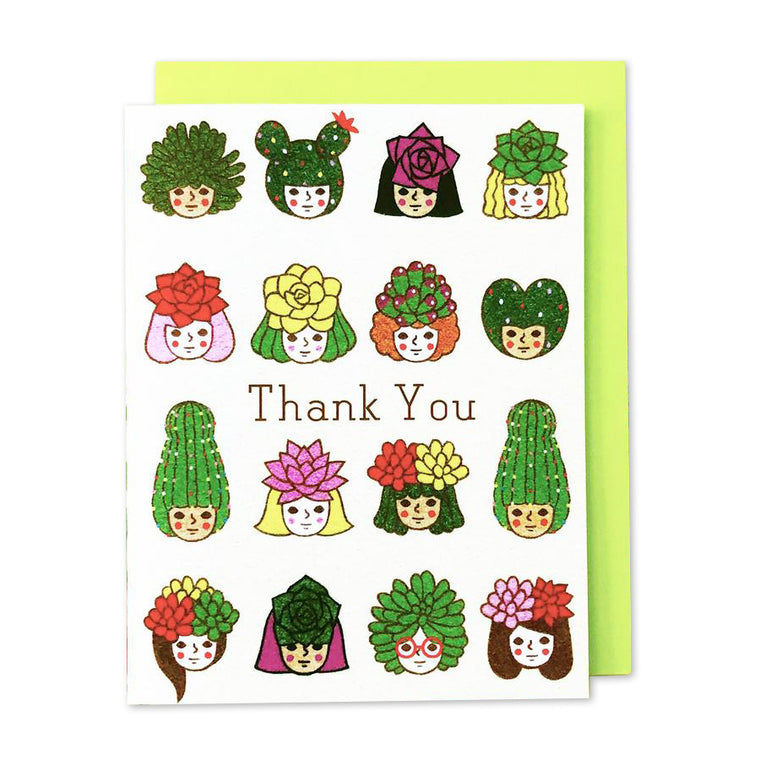 Thank You Succulent Girls Card