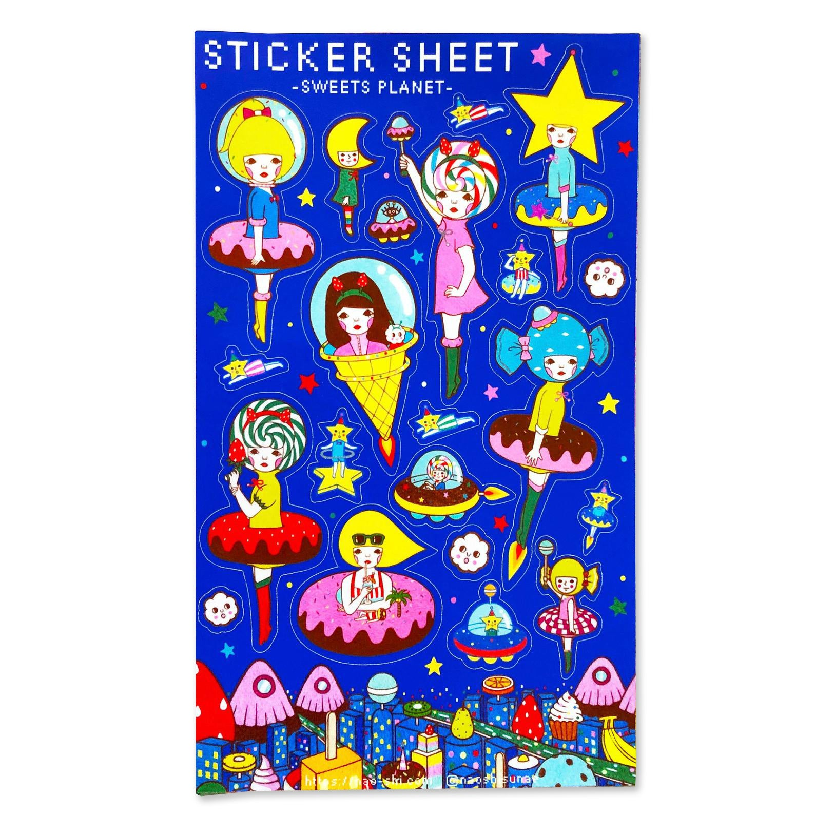 Sweets Planet Sticker Sheet
