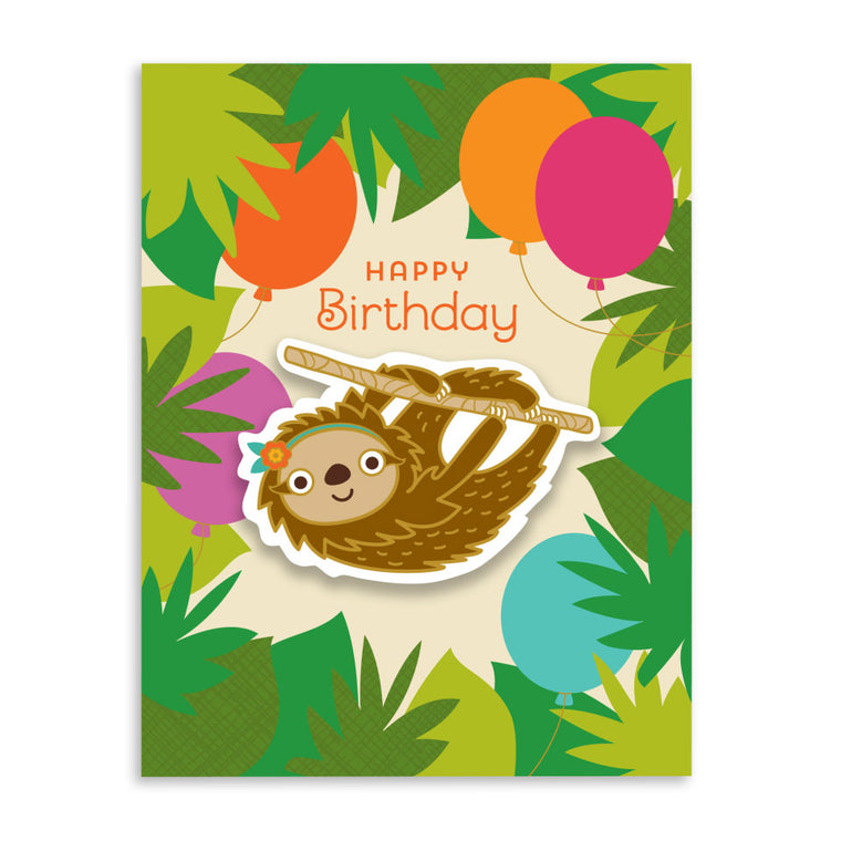 Forest Sloth Sticker Card