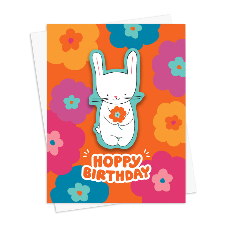 Birthday Bunny Sticker Card