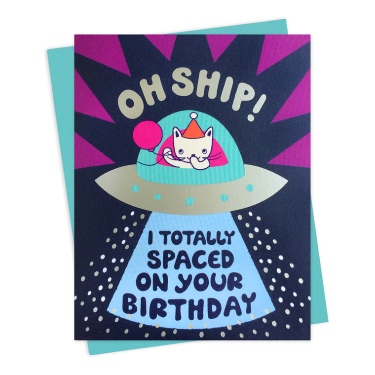 Oh Ship Belated Birthday Card