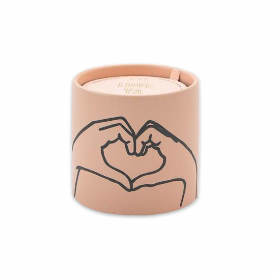 Impressions 5.75 oz. Pink Heart Ceramic Candle: Tobacco + Vanilla by Paddywax from Leanna Lin's Wonderland