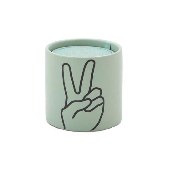 Impressions 5.75 oz. Mint Peace Ceramic Candle: Lavender + Thyme