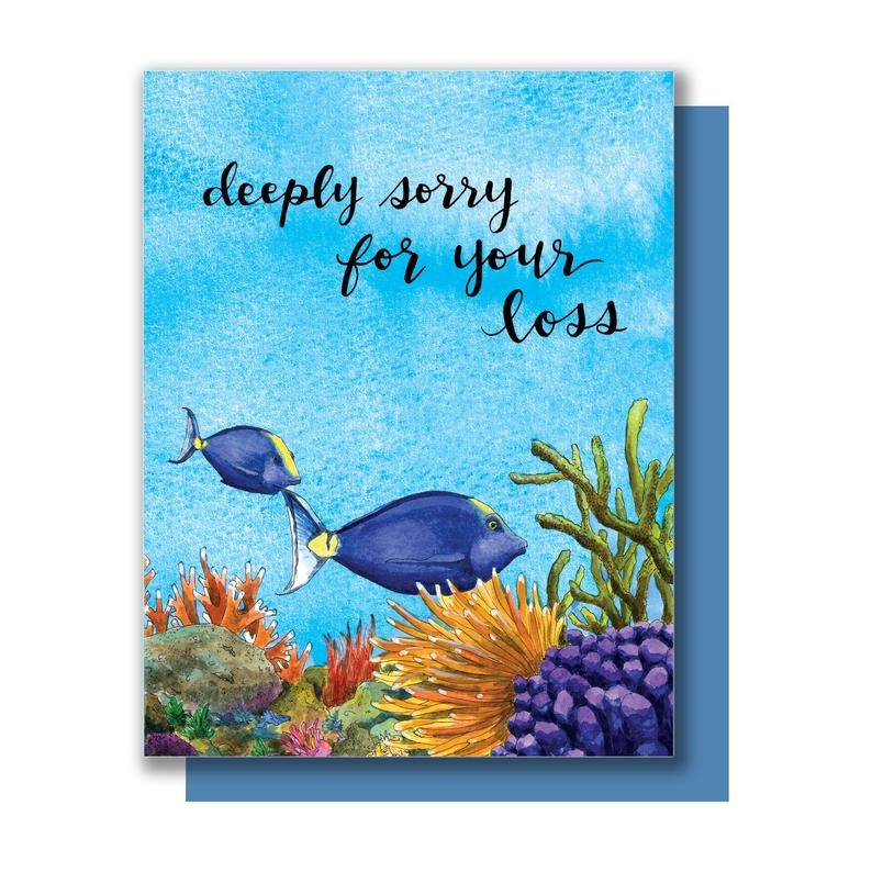Deep Sympathy Card by Paper Wilderness from Leanna Lin's Wonderland