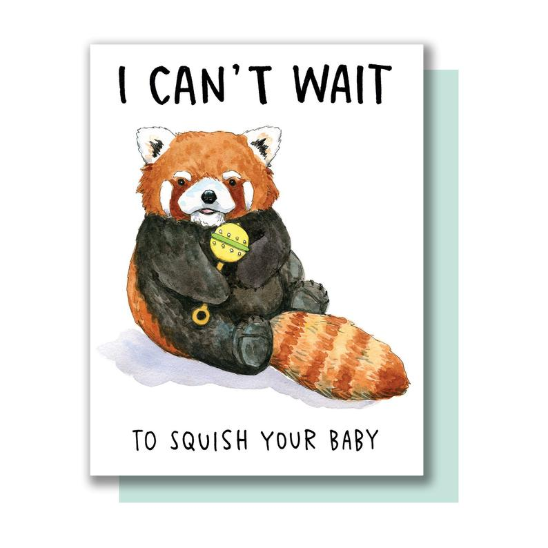 Squish Your Baby Card by Paper Wilderness from Leanna Lin's Wonderland