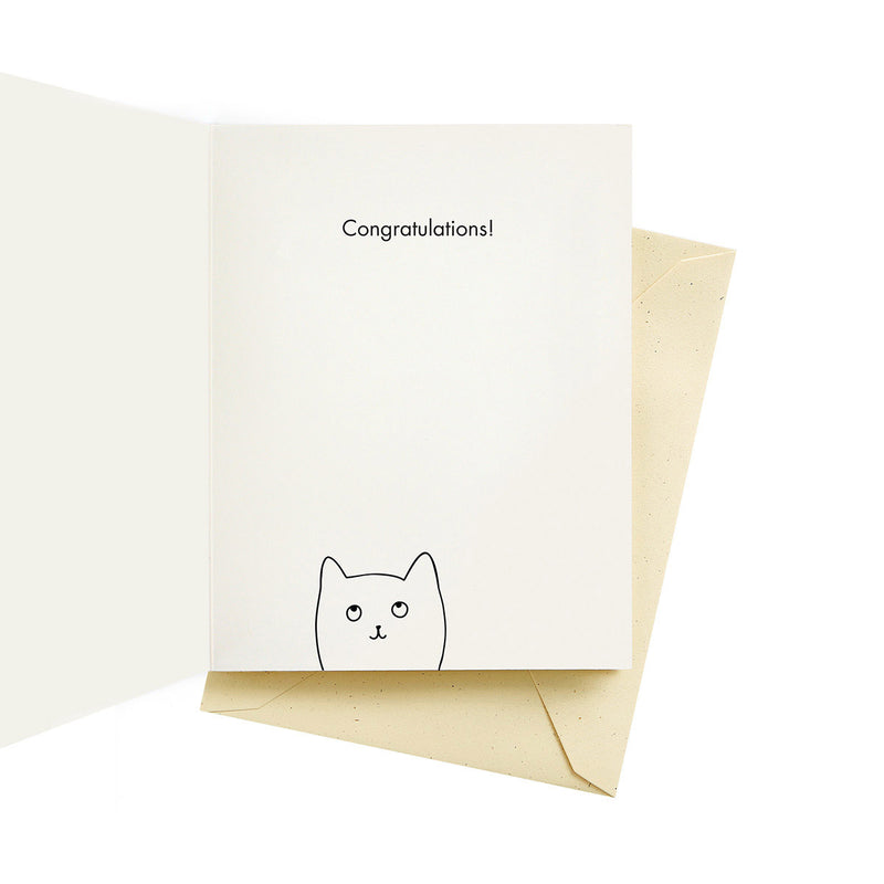 Big Cat Congratulations Card by Seltzer from Leanna Lin's Wonderland
