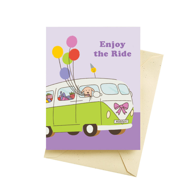 Birthday Van Card