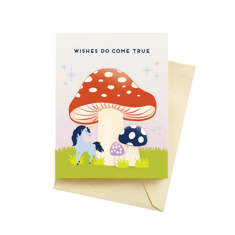 Mushroom Wishes Birthday Card