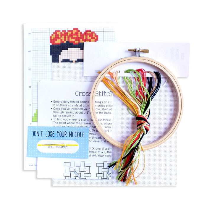 Frida Kahlo Cross Stitch Kit by The Stranded Stitch from Leanna Lin's Wonderland