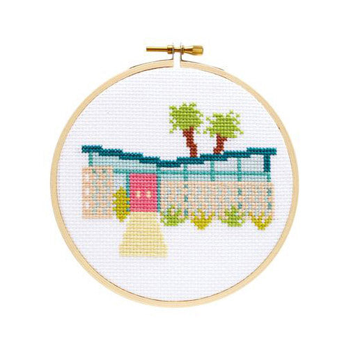 Palm Springs Cross Stitch Kit by The Stranded Stitch from Leanna Lin's Wonderland