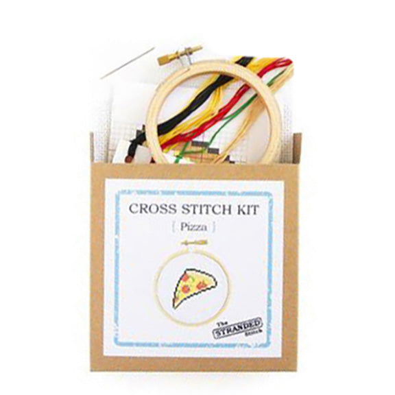 Pizza Mini Cross Stitch Kit