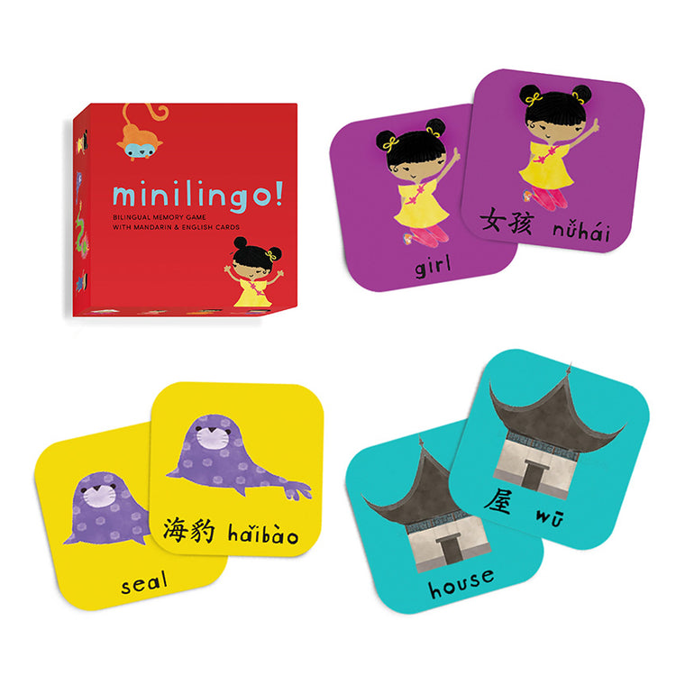 Minilingo Mandarin/English Bilingual Box of Cards
