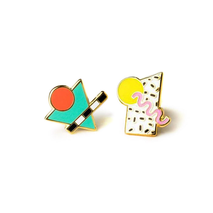 80's Memphis Style Earrings by Yellow Owl Workshop from Leanna Lin's Wonderland