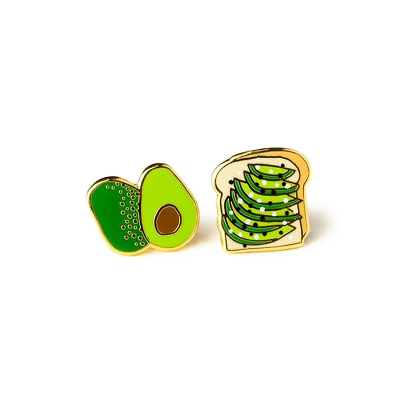 Avocado Toast Earrings by Yellow Owl Workshop from Leanna Lin's Wonderland