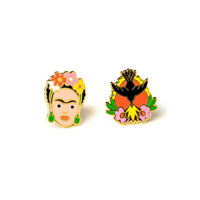 Frida Kahlo Earrings by Yellow Owl Workshop from Leanna Lin's Wonderland