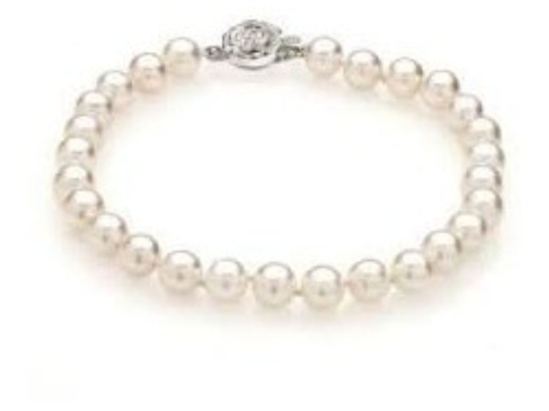 White Pearl Bridal Jewellery Bracelet For Women