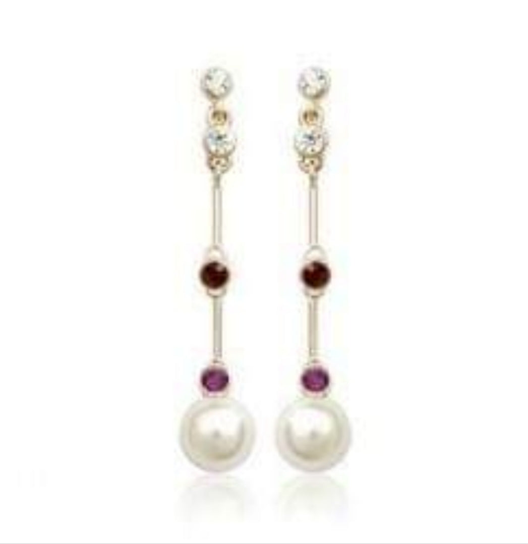 Gold Pearl Statement Fashion Earrings