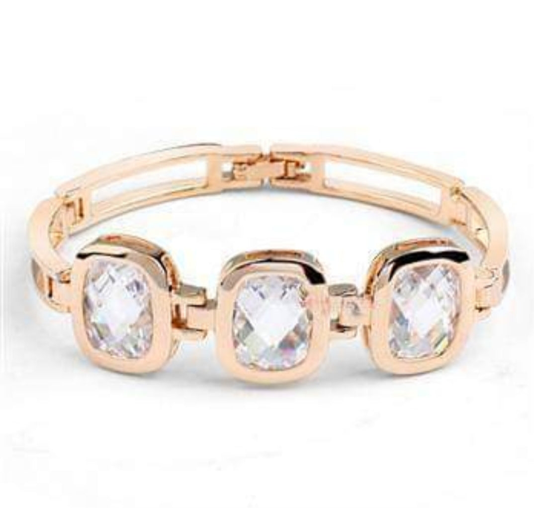 Gold Crystal Fashion Bangle Bracelet