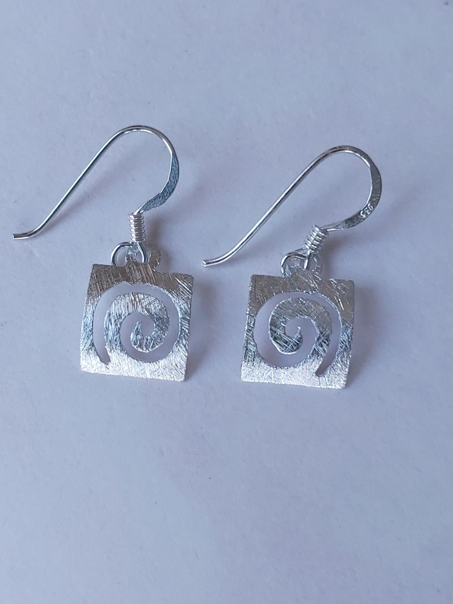 Silver Dainty Hook Dangle Earrings
