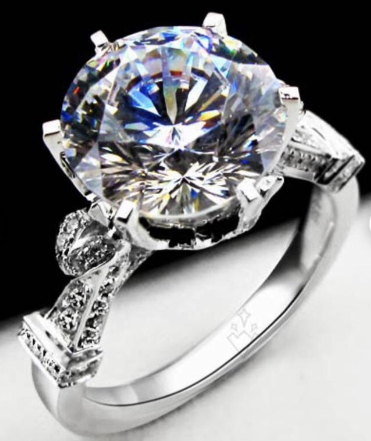 3ct solitaire Diamond Simulated Engagement Promise Ring 💍💎