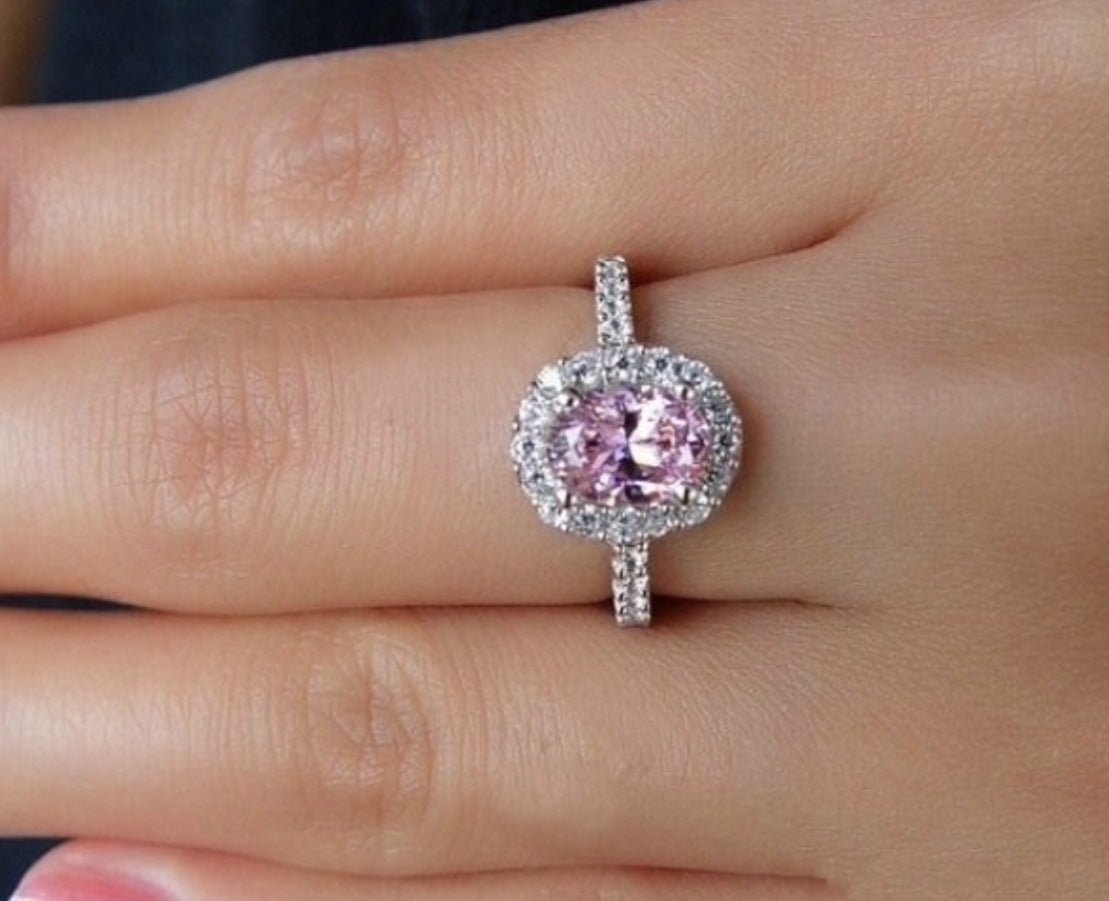 Rings | 2ct Pink Simulated Diamond Vintage Engagement Promise Cocktail Ring 💍