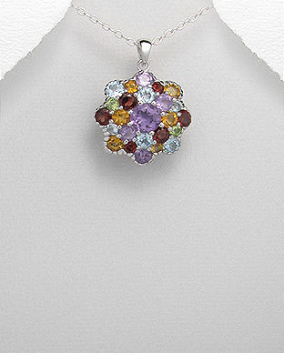 Gemstone Jewellery |  sterling Silver Gemstone pendant Necklace 💕 Lena May Jewellery