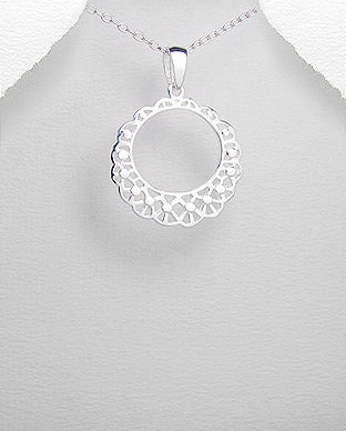 Silver Open Cut Out Pendant