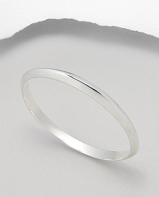 Silver Classic Round Golf Bangle