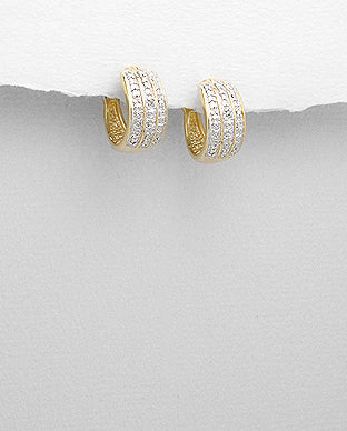 Small Hoop Earrings Gold Vermeil