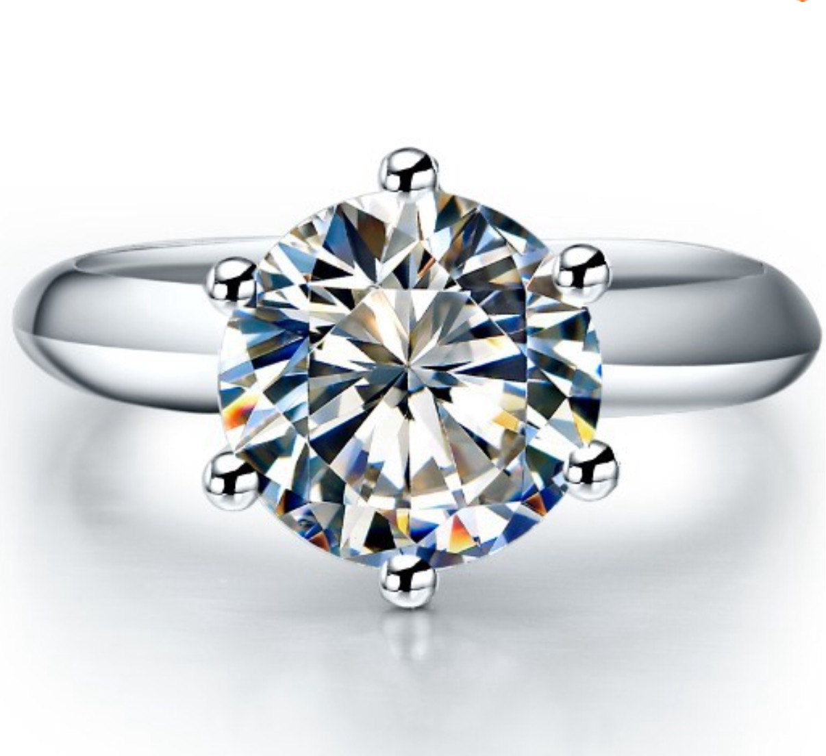 3 Carat classic solitaire simulated diamond promise engagement ring for women online Melbourne