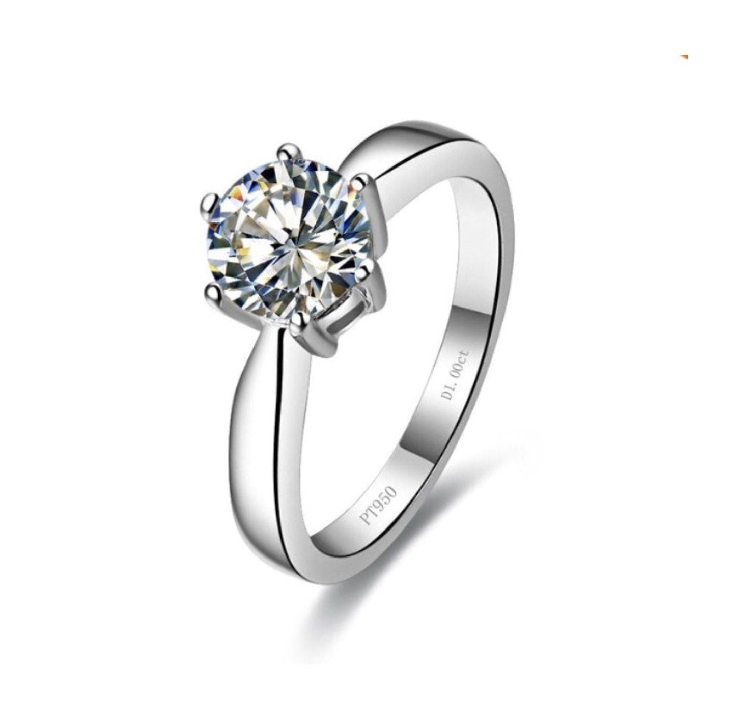 Simulated Engagement Ring 1 carat