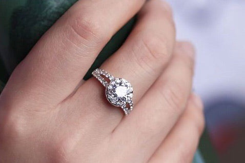 1 Carat Round Simulated Diamond Promise Ring